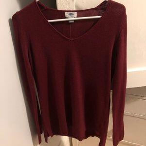 Maroon V-Neck Old Navy Sweater
